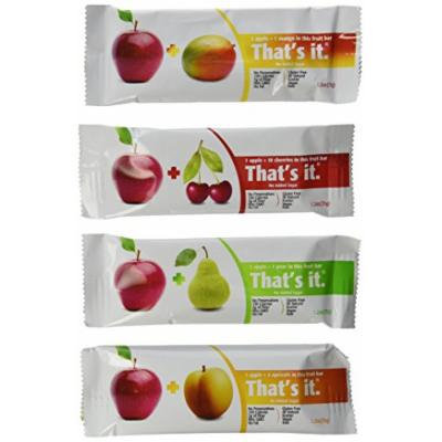 That's It Variety Pack, Apple + Pear, Apple + Cherry & Apple + Apricot, 12 Pack Natural Fruit Bars