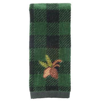 St. Nicholas Square Pinecone Fingertip Towel, Green