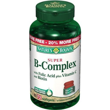 Nature's Bounty Vitamin B-complex W/vit-c Sofgels (bonus 60+12), 60-Count