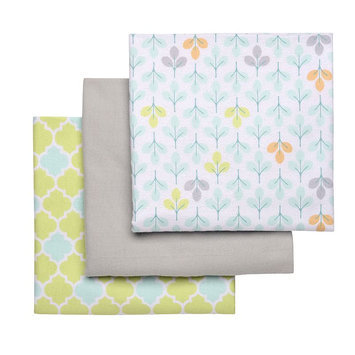 Boppy 3 Pack Flannel Receiving Blankets - Green/Grey