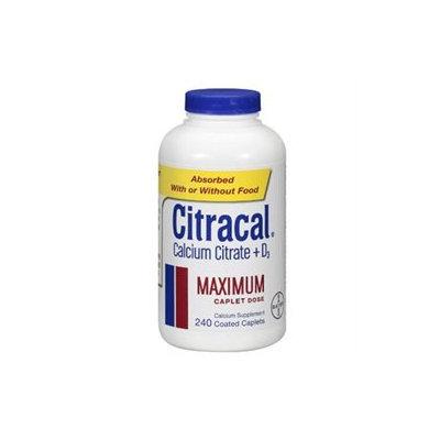 Citracal Maximum Calcium Supplement Caplets - 240 Count