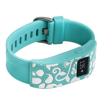 French Bull FitBit Charge/Charge HR Sleeve Vines - Teal, Turquoise