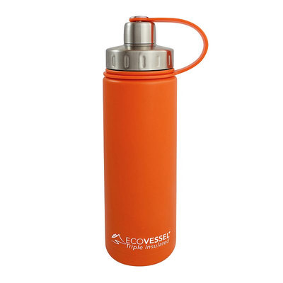 Eco Vessel Boulder Triple Insulated Water Bottle - 20oz Orange Blast, One Size
