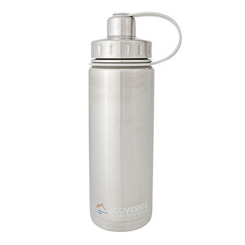 Eco Vessel Boulder Triple Insulated Water Bottle - 20oz Silver Express, One Size