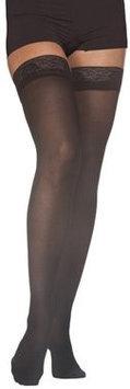 Sigvaris EverSheer 781NLSW94 15-20 Mmhg Closed Toe Large Short Thigh Hosiery For Women Nightshade