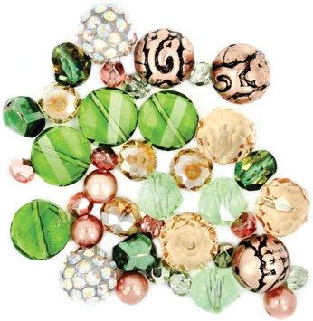 Jesse James 489409 Design Elements Beads 40 Grams-Hot Tango
