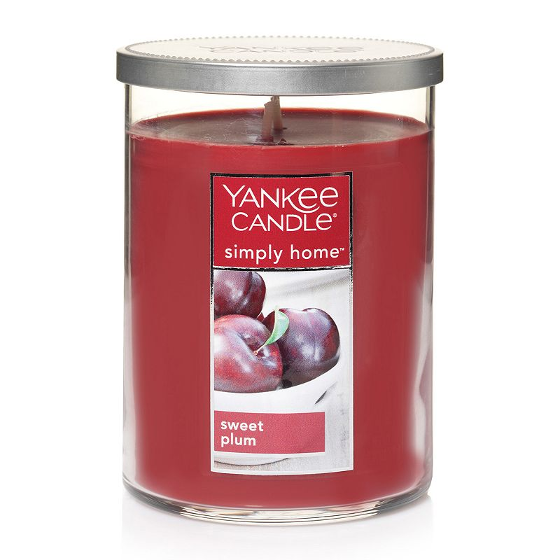 Yankee Candle simply home Sweet Plum 19-oz. Jar Candle, Red
