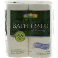 Field Day 100% Recycled Bath Tissue 4 Rolls, 175-Sheets (Pack of 24)