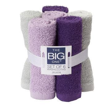 The Big One® 6-pack Washcloths, Purple
