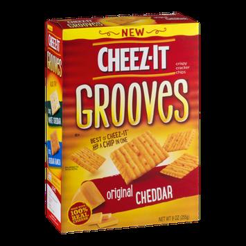 Cheez-It Grooves Crispy Cracker Chips Original Cheddar