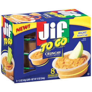 Smucker's Jif Crunchy Peanut Butter To Go 12 oz 8 ct