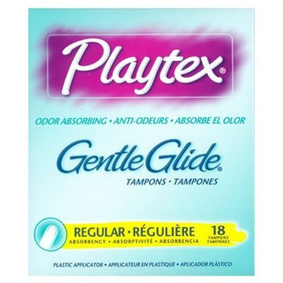 Playtex Femcare Gentle Glide Odor Absorbing Tampons - Regular 18 Count