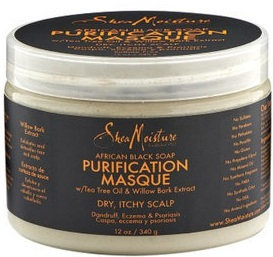 SheaMoisture Organic African Black Soap Purification Masque w/ Tea Tree Oil & Willow Bark Extract