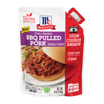 McCormick® Smoky Bourbon BBQ Pulled Pork Slow Cooker Sauce