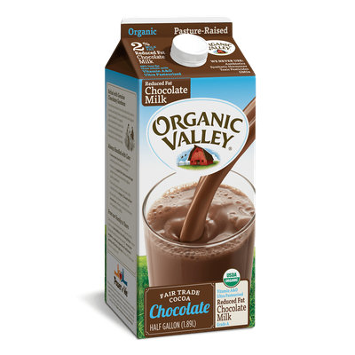 Organic Valley® Reduced Fat 2% Chocolate Milk, Half Gallon
