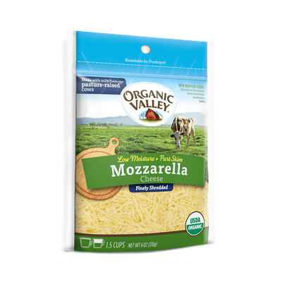 Organic Valley® Shredded Low Moisture Mozzarella, Part Skim