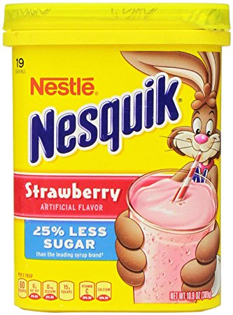 Nesquik® 25% Less Sugar Strawberry Flavor Powder