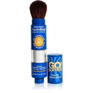 GO!screen Natural BrushOn Powder Sunscreen for Kids and Adults, SPF30