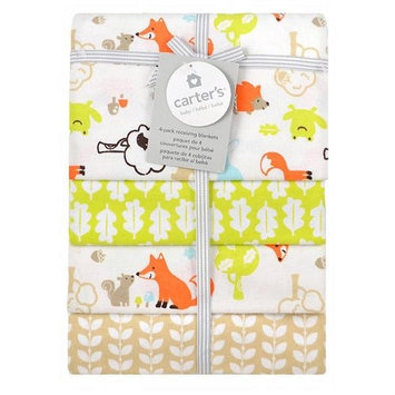 Triboro Quilt Co. Carter's 4 Pack Flannel Fox Print