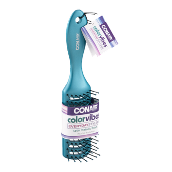 Conair Color Vibes Everyday Stylers Satin Metallic Finish Hair Brush