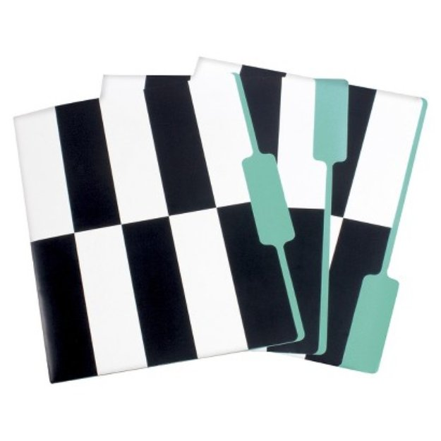 Room Essentials 3pk Folders, Assorted Styles