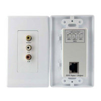 StarTech.com COMPUTPWALLA Composite Wall Plate Video Extender over Cat 5 with Stereo Audio
