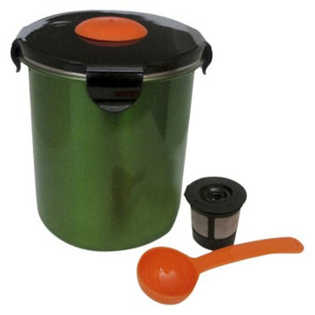 Regency Products Intl. Inc. BeanSafe Stainless Steel Coffee 16oz. Storage Container - Green