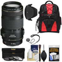 Canon EF 70-300mm f/4-5.6 IS USM Zoom Lens with 3 UV/CPL/ND8 Filters + Hood + Backpack + Kit for EOS 6D, 70D, 5D Mark II III, Rebel T3, T3i, T4i, T5, T5i, SL1 DSLR Cameras