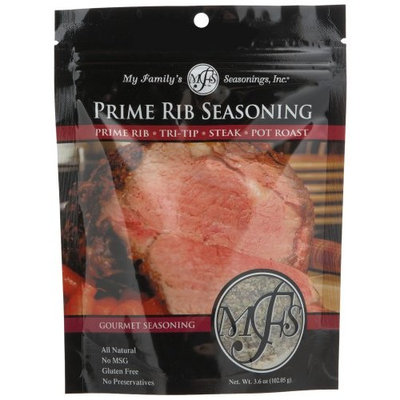 My Family's Seasonings, Inc. Prime Rib Seasoning, 3.6-Ounce Pouches (Pack of 6)