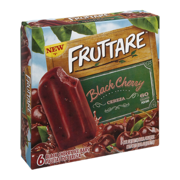 Fruttare Ice Bars Black Cherry - 6 CT