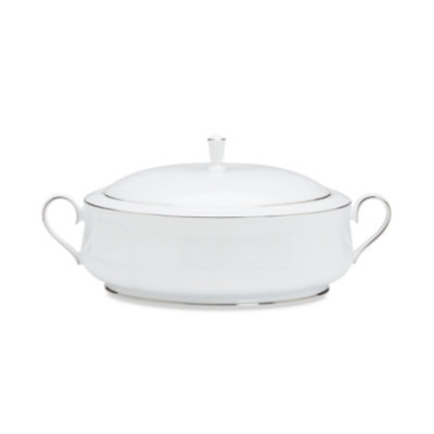 Lenox Hannah Platinum Covered Vegetable Dish