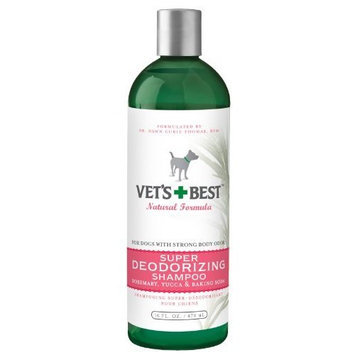Veterinarians Best Vet's Best Super Deodorizing Dog Shampoo, 16 Ounces