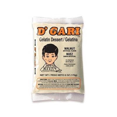 D'gari Dgari, Gelatin Prep Milk Walnut, 6-Ounce