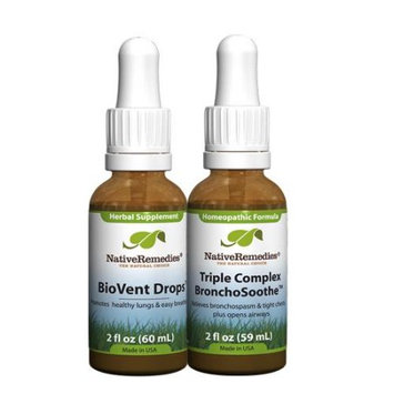 Native Remedies Native Remedies Respiratory ComboPack - Triple Complex BronchoSoothe + BioVent Drops