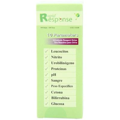 Btnx Rapid Response 10 Parameter (10SG) Urinalysis Reagent Test Strips, 100 Strips/Bottle