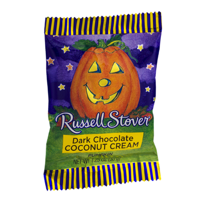 Russell Stover Dark Chocolate Pumpkin Coconut Cream