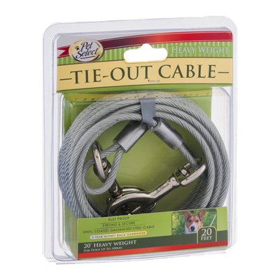 Pet Select 20' Tie-Out Cable Heavy Weight