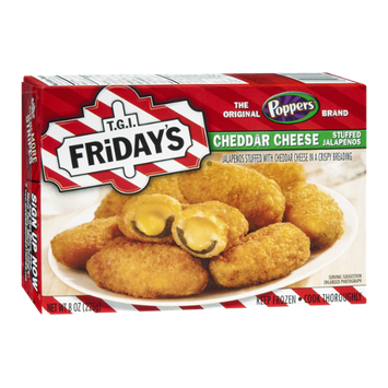 T.G.I Friday's Poppers Cheddar Cheese Stuffed Jalapenos