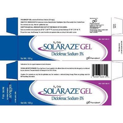 Solaraze Gel Brand 3% 100g Gel