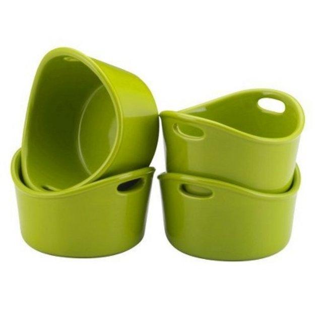 Rachael Ray Round Ramekins - Green (Set of 4)