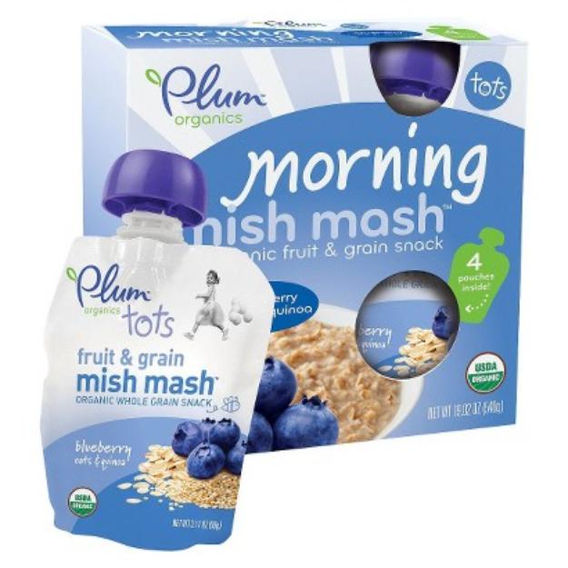 Plum Organics Tots Morning Mish Mash Blueberry Oats & Quinoa 19.02 oz