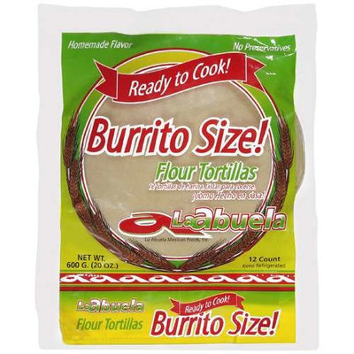 LA Abuela: Flour Burrito Size Tortillas, 20 Oz