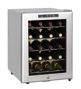 Sunpentown - Thermo-Electric Wine Cooler - Platinum Trim 20 Bottle