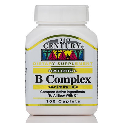 21st Century Healthcare Vitamin B Complex with C 100 Tablets, 21st Century Health Care