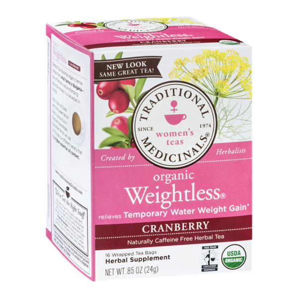 Traditional Medicinals Women's Tea Organic Tea Bags Weightless  - 16 CT
