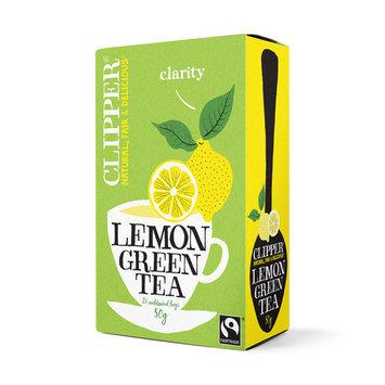 Clipper Fairtrade Green Tea with Lemon