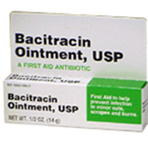 Bacitracin First aid Antibiotic Ointment, USP - 1/2 Oz