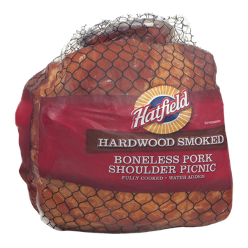 Hatfield Hardwood Smoked Boneless Pork Shoulder Picnic
