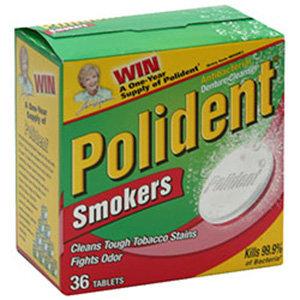 Polident Denturer Cleanser Tablets Smokers 36 Ea
