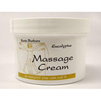 Real Bodywork Santa Barbara Massage Cream - Eucalyptus 8 Ounce Jar